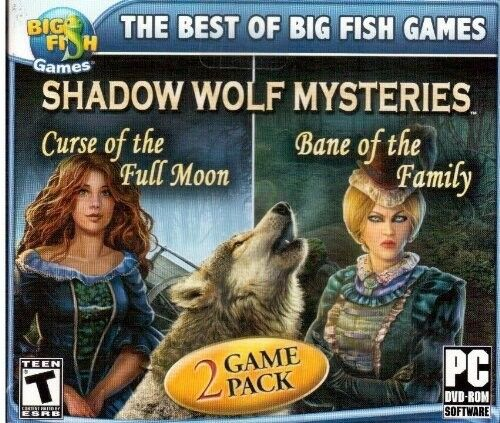 Computer Games - Shadow Wolf Mysteries 1 & 2 PC Games Window 10 8 7 XP Computer hidden object NEW