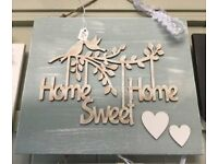 HANDMADE 3D WALL HOME SWEET HOME PLAQUE FINISHED WITH ANNIE SLOAN PAINT