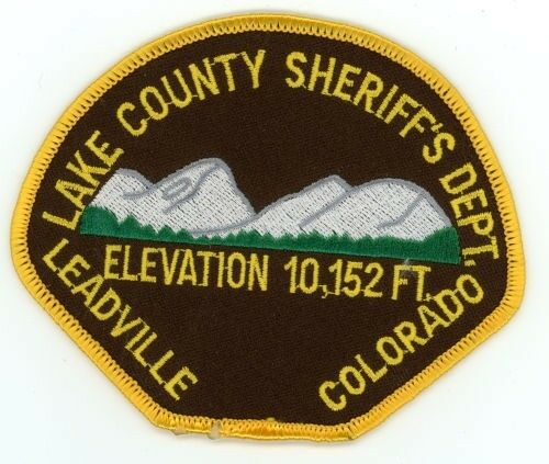 LAKE COUNTY SHERIFF COLORADO CO COLORFUL STYLE #2 POLICE PATCH