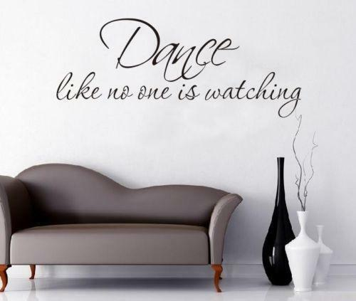 Dance wall decals ebay
