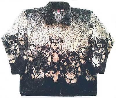 Kittens Plush Fleece Cat Jacket Kids & Junior Sizes