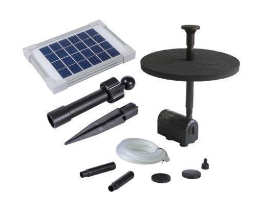 Solar garden pond pumps ebay for Solar fish pond filter
