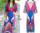 Maxi Dresses Summer with Batwing Sleeve