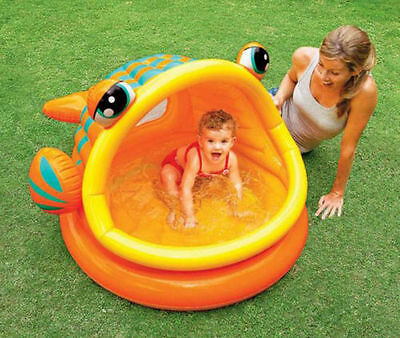 Intex Lazy Fish Baby Toddler Sun Shade Childrens Kids Canopy UV Paddling Pool