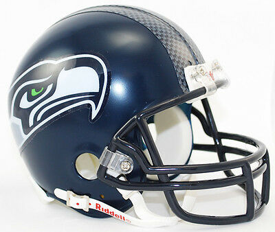 SEATTLE SEAHAWKS NFL Football Helmet BIRTHDAY WEDDING CAKE TOPPER - Seahawks Birthday