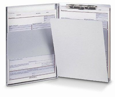 Oic Aluminum Storage Clipboard - 30 - Side Opening - 8.50 X 12 - Oic83203
