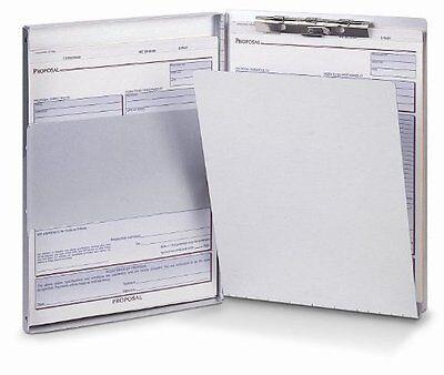 Oic Aluminum Storage Clipboard - 30 - Side Opening - 8.50 X 12 - Aluminum
