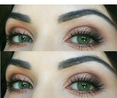 Farbige grüne Silikon Kontaktlinsen mit ohne Stärke weich - Grüne Farbige Kontaktlinsen