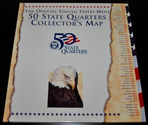 State Quarter Map | eBay