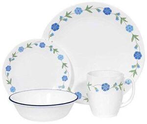 New Corelle Living Dinnerware Set, Service for 4,Spring