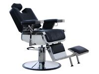 NEW HEAVY DUTY REAL LEATHER BLACK HADI® UK BARBER CHAIR BC-20,CASH ON COLLECTION