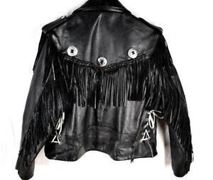 3ab7a0b59410 Men s Fringe Leather Motorcycle Jacket