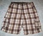 AriZona Plaids & Checks Regular 34 Shorts for Men