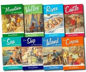 Enid Blyton Adventure Series Collection, Set of 8 Books