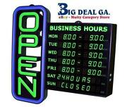 Open Sign Hours
