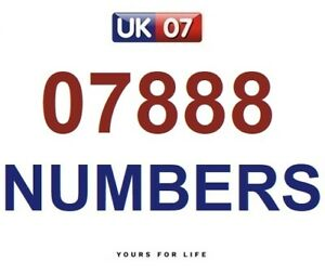 07888 - Gold Easy Memorable Business Platinum VIP UK Mobile Phone Numbers