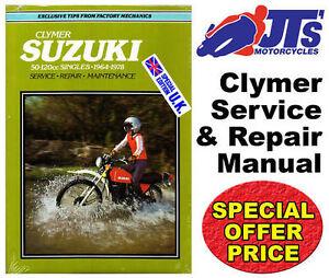 clymer workshop repair manual suzuki b100p 1966-1969 m367 50-125cc