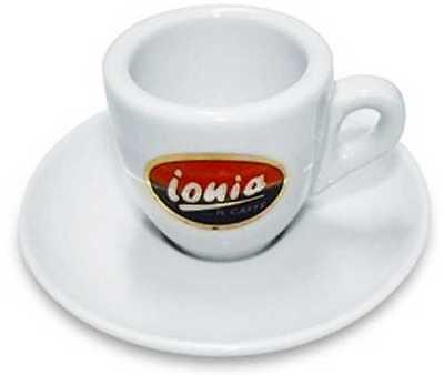 IONIA | italienische Espresso Tasse 6 Stück mit Untertasse,