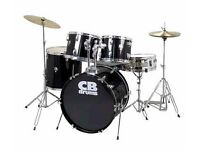 CB Drum Kit almost new with silencers