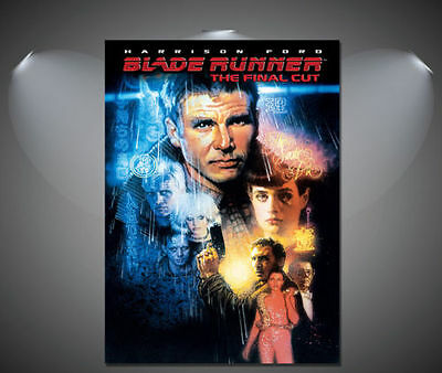 Blade Runner Harrison Ford Vintage Movie CANVAS Art Print - A0 A1 A2 A3 A4