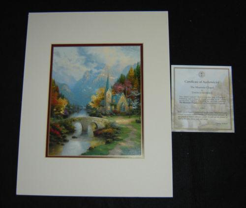 Thomas Kinkade Mountain Chapel Ebay