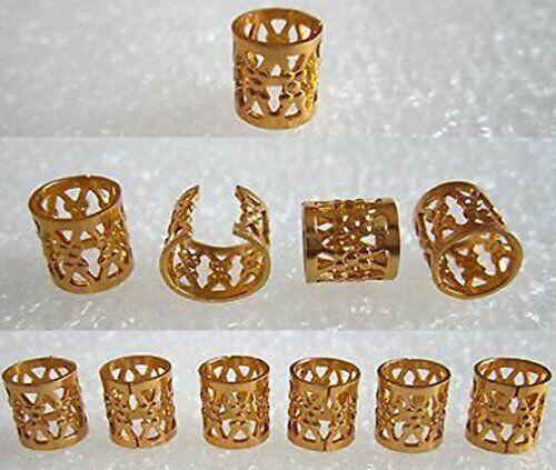 Dread Lock Dreadlocks Braiding Beads Golden Metal Cuffs Hair Accessories