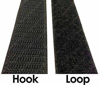 "Velcro® Brand 2"" Inch Wide Black Hook and Loop Set - SEW-ON"