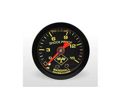 Marshall Gauge 0-15 Psi Fuel Pressure Gauge Midnight Black 1.5