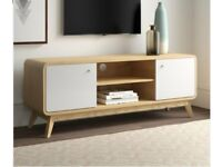 """TV Stand for TVs up to 60"""" Oak/White"""