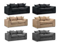 Brand New 3 and 2 seater best quality Fabric Sofa Set and Solid Wood frame