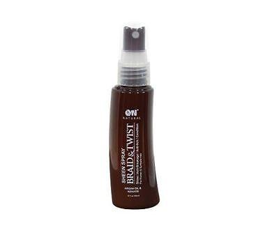 - On Natural Sheen Spray Braid & Twist 2 oz - Argan Oil & Keratin