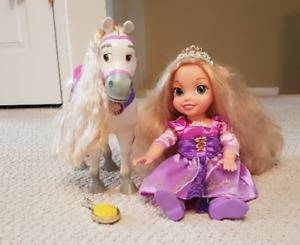 princess Rapunzel doll with horse