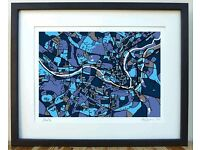 Printed Firewater City of Bath Map A4 FRAMED