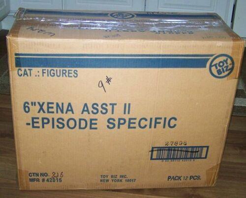 XENA WARRIOR PRINCESS - FULL CASE OF XENA ACTION FIGURES - 12 COUNT - NIB