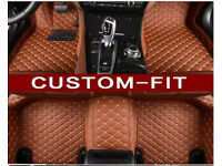 Hand-cut, car mat, leather machine stitched 100% attention to quality BMW/AUDI/MERC/HONDA/MAZDA ECT.