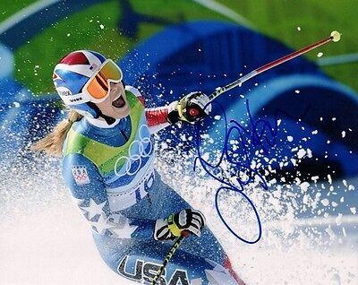 Lindsey Vonn Signed Autographed Photo Usa Olympics Skier Coa