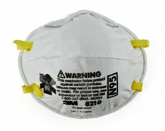 1 EACH – 3M 8210 N95 Particulate Respirator Face Mask, EXP. Date: 2026 Business & Industrial