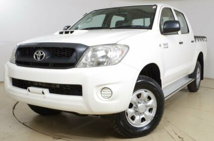 2010 Toyota Hilux KUN26R MY10 SR White 5 Speed Manual Utility St Marys Mitcham Area Preview