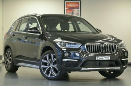 2015 BMW X1 F48 XDRIVE25I Black Sapphire Semi Auto Wagon Chatswood Willoughby Area Preview