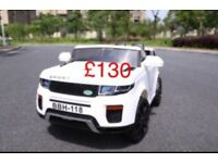 Range Rover 12v Evoque style ride on car with remote control music and lights leeds £130