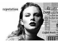 3 x Taylor Swift tickets Friday 22nd June - FLOOR SEATS - Amazing view!!