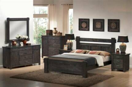 SEATTLE KING BED FRAME ( BEDROOM SUITE AVAILABLE ) Wangara Wanneroo Area Preview