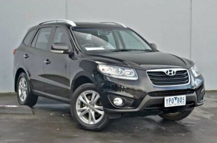 2011 Hyundai Santa Fe  Phantom Black Auto Seq Sportshift Wagon Cranbourne Casey Area Preview