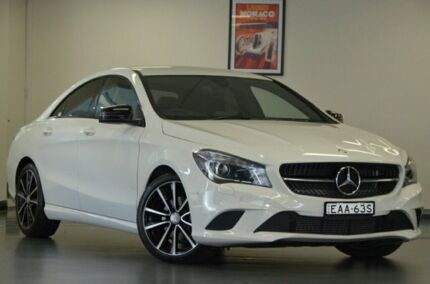 2015 Mercedes-Benz CLA200 C117 806MY DCT Cirrus White 7 Speed Sports Automatic Dual Clutch Coupe Chatswood Willoughby Area Preview