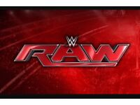 4 x WWE Raw tickets @ Glasgow Hydro on Monday 7th November