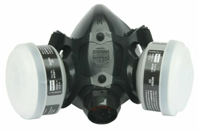 North, 7 IN 1, 7700 Series Reusable Respirator For Spraying & Painting, SMALL Business & Industrial