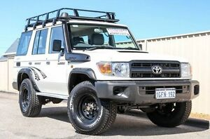 2016 Toyota Landcruiser VDJ76R Workmate White 5 Speed Manual Wagon Pearsall Wanneroo Area Preview