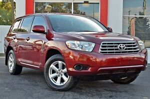 2008 Toyota Kluger GSU45R KX-R AWD Red 5 Speed Sports Automatic Wagon Upper Ferntree Gully Knox Area Preview