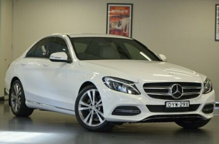 2015 Mercedes-Benz C200 W205 BlueTEC 7G-Tronic + Polar White 7 Speed Sports Automatic Sedan Chatswood Willoughby Area Preview