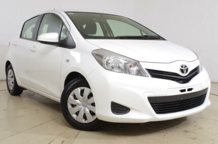 2013 Toyota Yaris NCP130R YR White 4 Speed Automatic Hatchback St Marys Mitcham Area Preview